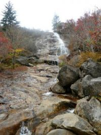 Upper falls at Graveyard Fields on BRP in NC