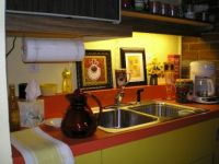 My Colorful Basement...about 4 years ago. The other end of the room contains a small kitchenette.