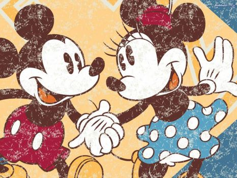 vintage mickey and minnie