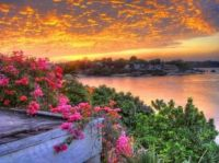 Sunset river view