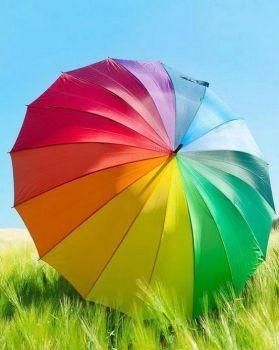 ombrello pieno di colori