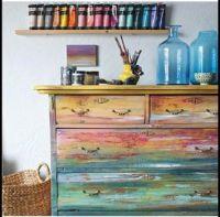 Paints and a bureau