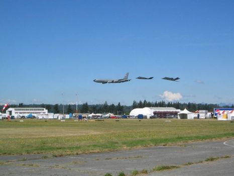 post airshow flyby at Abbotsford