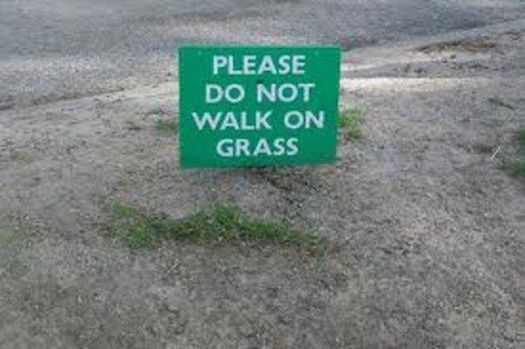Do not walk on the grass