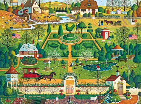 """Uncle Jack's Topiary Tendencies""-Charles Wysocki"