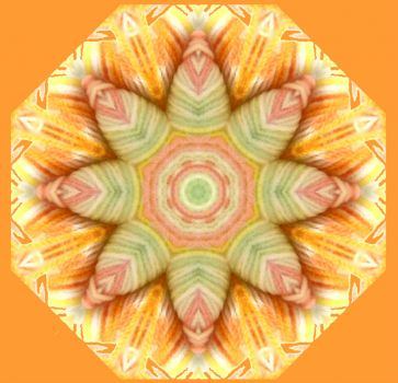 Orange Kaleidoscope for PJ and Katie and other members of the OFC
