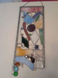 THEME:  Glassware  Last of the stained glass window hangings - tried some different colors, my least favorite