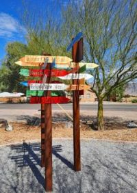 Shoshone Distance Sign