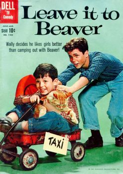 LEAVE IT TO BEAVER - DELL COMIC , 1960 - JERRY MATHERS & TONY DOW