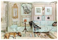 lazy nook by Carl Larsson