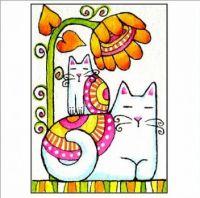 Cats & Flower