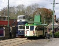 Trams at Crich Tramway Village
