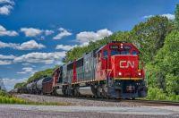 CN # 5400 Pulling Through in 600 Pieces