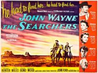 THE SEARCHERS - 1956 MOVIE POSTER  JOHN WAYNE, JEFFREY HUNTER, VERA MILES