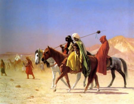 Arabs Crossing the Dessert by Jean-Léon Gérôme