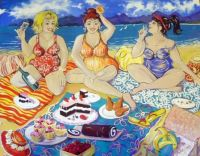Deborah Conroy Art - Cakes & Wine on the Beach!