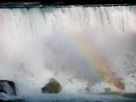 rainbow at Niagra Falls