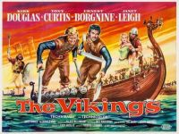 THE VIKINGS - 1958 MOVIE POSTER - KIRK DOUGLAS, TONY CURTIS, JANET LEIGH