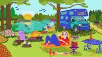 Basil, Mom, and Grandma Go Camping