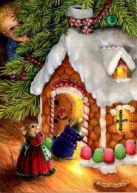 Gingerbread House - Art by Susan Wheeler