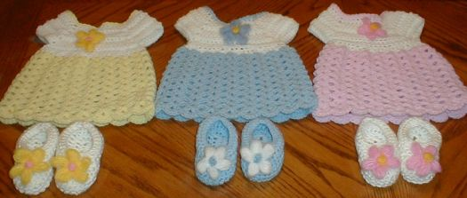3 Baby Dress with shoes