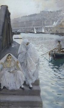 "Anders Zorn, ""In the Harbour of Algiers"", 1887"