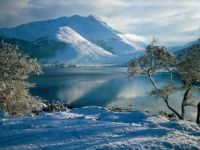 The Western Highlands of Scotland under snow