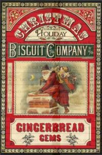 Christmas Holiday Biscuit Company Signage