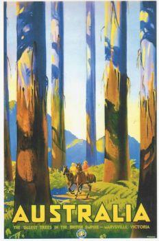 Vintage Tourism Poster Australia - Victoria