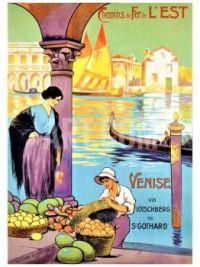 Themes Vintage Travel Poster - Venice