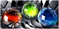 CGI Art -  Three Glass Orbs