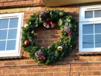 very large christmas wreath