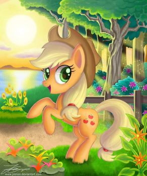MLP: Apple In The Sunset