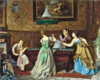 Charles Edouard Boutibonne - Ladies Playing Billiards 1869