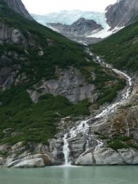 Waterfall near Dawes Glacier