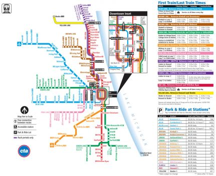 Chicago metro system map