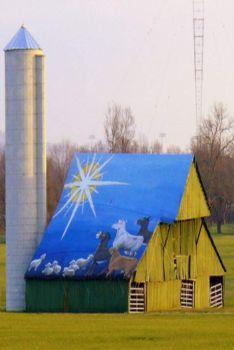 Themes: Blue Roof Barn Art