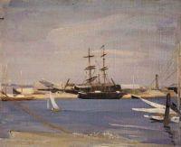 William Nicholson The brig 1906