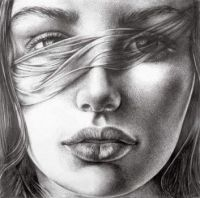 'Black and White Pencils on Paper'