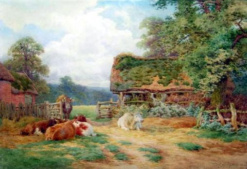 Noonday Rest by Charles James Adams (1859-1931)