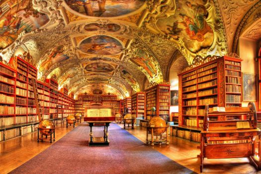 Amazing Library Is Full Of Magic! Library of Strahov Monastery at Prague, Czech Republic