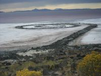 Spiral Jetty. Great Salt Lake, Utah