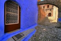 greek blue in rhodes old town   greece israel cyprus