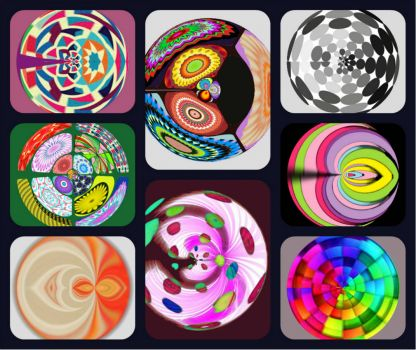 collage spheres