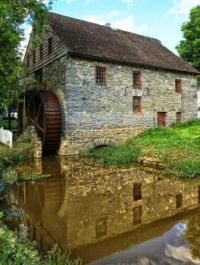 Herr's Grist Mill with Water Wheel, PA