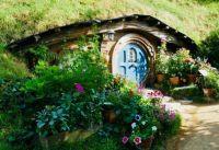 Blue door Hobbit house