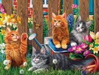 Garden Cats #4