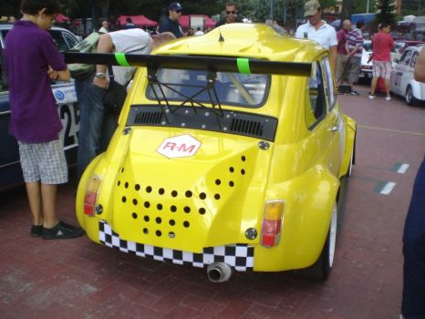 Fiat 500 modified for racing