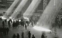 Sunlight streaming through in NYC's Grand Central Terminal.