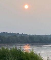 KC sunrise on the Missouri River